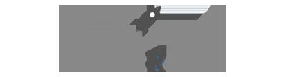 RocketReach Logo Grey